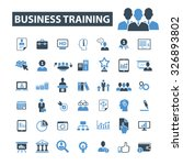 business training icons | Shutterstock .eps vector #326893802