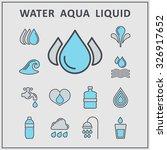 water aqua liquid vector icons | Shutterstock .eps vector #326917652