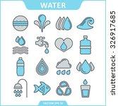 water vector set | Shutterstock .eps vector #326917685