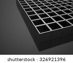 silver 3d cubes background... | Shutterstock . vector #326921396
