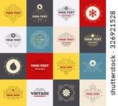 vintage frames  labels. hvac...   Shutterstock .eps vector #326921528