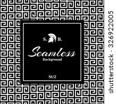 monochrome seamless art deco... | Shutterstock .eps vector #326922005