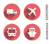 transport icons. truck ...   Shutterstock .eps vector #326923985