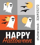 happy halloween poster with... | Shutterstock .eps vector #326925272