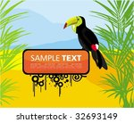 background with toucan | Shutterstock .eps vector #32693149