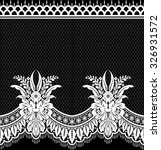 seamless lace pattern  flower... | Shutterstock .eps vector #326931572