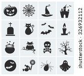 happy halloween  collection of... | Shutterstock . vector #326932112