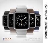 set of 5 modern shiny smart... | Shutterstock .eps vector #326932292
