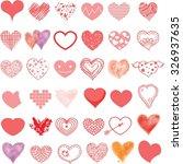 vector hand drawn hearts set   Shutterstock .eps vector #326937635