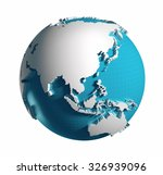 3d generated globe. asia side....   Shutterstock . vector #326939096