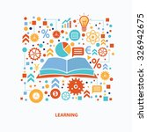 learning concept design on... | Shutterstock .eps vector #326942675