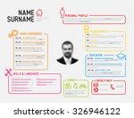 vector original minimalist cv   ... | Shutterstock .eps vector #326946122