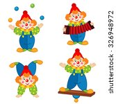 circus clown in action   vector ...   Shutterstock .eps vector #326948972