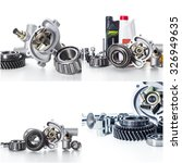 car parts collage | Shutterstock . vector #326949635