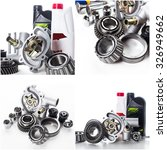 car parts collage | Shutterstock . vector #326949662