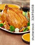 thanksgiving turkey dinner | Shutterstock . vector #326956058