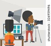 an african american... | Shutterstock .eps vector #326959496