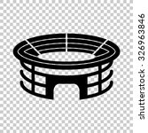 stadium vector icon   black... | Shutterstock .eps vector #326963846