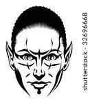 female vampire | Shutterstock .eps vector #32696668