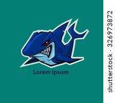 shark mascot  sport team logo ... | Shutterstock .eps vector #326973872