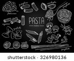 vector hand drawn pasta menu.... | Shutterstock .eps vector #326980136