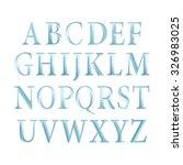 vintage blue font vector... | Shutterstock .eps vector #326983025