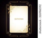 vector decorative frame.... | Shutterstock .eps vector #326986592