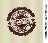 special promotion rubber stamp | Shutterstock .eps vector #326986952