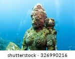 buddha statue in underwater... | Shutterstock . vector #326990216