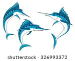 Ocean Blue Marlin Fishes With...