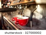 coffee machine preparing fresh... | Shutterstock . vector #327000002