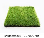 artificial turf tile on a white ... | Shutterstock . vector #327000785