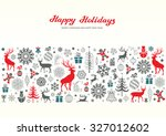 christmas retro greeting card... | Shutterstock .eps vector #327012602