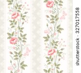 seamless pattern with floral... | Shutterstock .eps vector #327017558