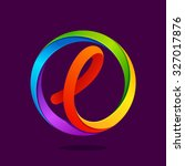 l letter colorful logo in the... | Shutterstock .eps vector #327017876