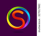 s letter colorful logo in the... | Shutterstock .eps vector #327017882