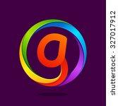 g letter colorful logo in the... | Shutterstock .eps vector #327017912