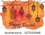 happy diwali festival.india... | Shutterstock .eps vector #327020468