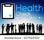 health check insurance check up ... | Shutterstock . vector #327023522