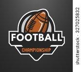 american football sports logo ... | Shutterstock .eps vector #327025832