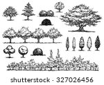 set of free hand drawing trees  ... | Shutterstock .eps vector #327026456