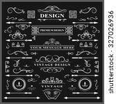 set of vintage decorations...   Shutterstock .eps vector #327026936