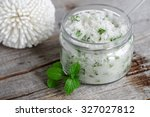 refreshing homemade sugar scrub ...   Shutterstock . vector #327027812