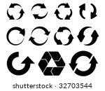 vector circular arrows   Shutterstock .eps vector #32703544
