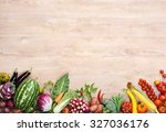 healthy food background  ... | Shutterstock . vector #327036176
