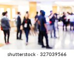 abstract blurred people in... | Shutterstock . vector #327039566