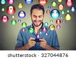 communication technology mobile ... | Shutterstock . vector #327044876