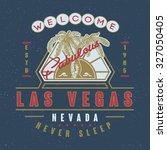 53 welcome fabulous las vegas... | Shutterstock .eps vector #327050405