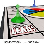 Take The Lead Words On A Board...