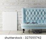 Mock Up Poster  Sofa  Hipster...